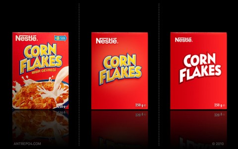 corn flakes minimalista